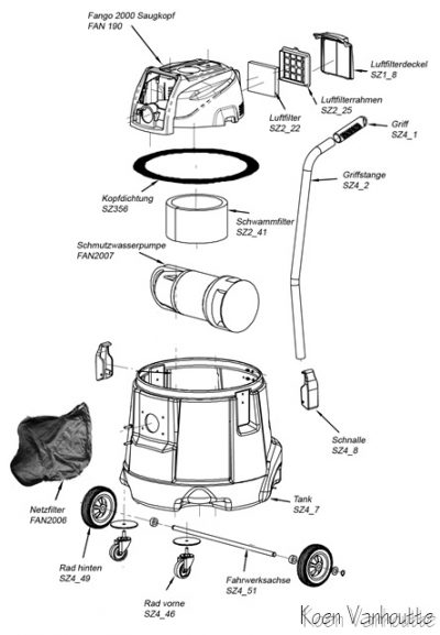 FANGO EXPLODED VIEW NAVICULA