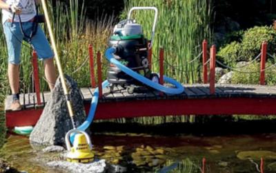 Automatische wandborstel Biber muurborstel groen aanlaging algen zwemvijver vijveronderhoud vijverstofzuiger Torpedo Ultra