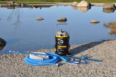 vijverstofzuiger vijveronderhoud zwemvijver professioneel torpedo Navicula