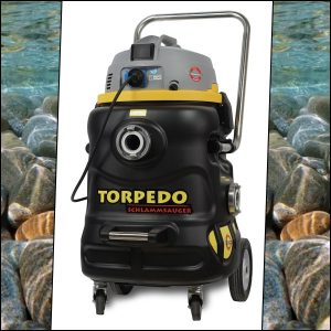 TORPEDO Professionele vijverstofzuiger voor vijveronderhoud en efficient beheer van zwembad zwemvijver en sauna / wellness centra.