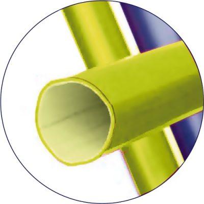 Glasvezel versterkte telescopische steel voor vijveronderhoud voor borstels, schepnet of vijverstofzuiger.