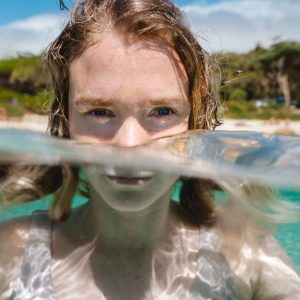 Clear water and bright eyes by Dylan Alcock.