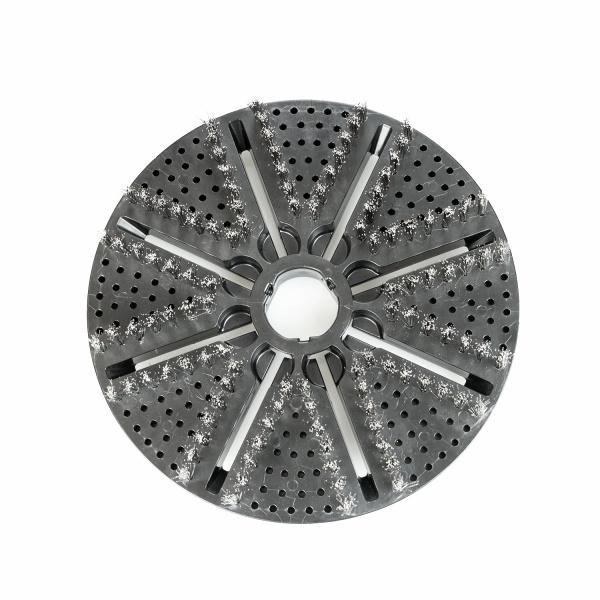 Stainless Steel Roterende borstel kop inox rvs voor Biber 22 automatische wandborstel.