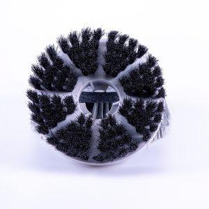 Zachte polijstborstel voor parket, plankenvloeren, tegels en mozaiekwerk. Jet 3 Vloerreiniger en wandschrobber met automatisch spuitkop voor detergenten.